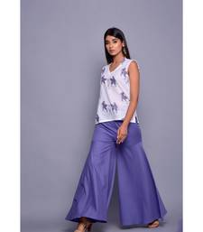 Purple and White Co-ord Set