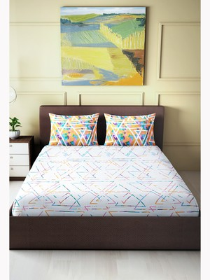 """Valencia Printed Double Bedsheet ( 90"""" x 100"""" )"""