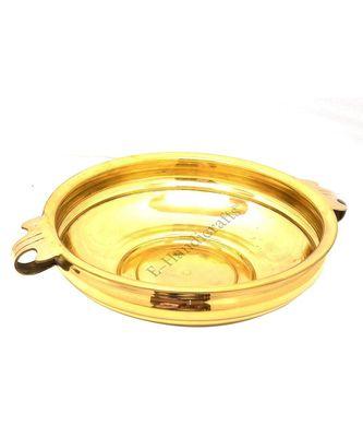 E-handicrafts Brass urli Bowl (16 inches)