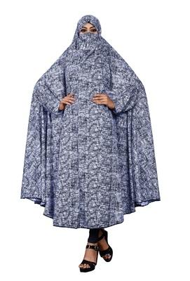 Justkartit Casual Wear Printed Viscose Lycra Chaderi Abaya Burqa for Women