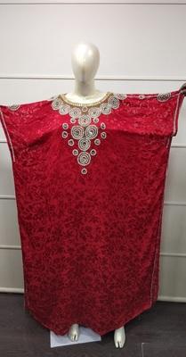 DUBAI ZARDOSI HAND EMBROIDERY JILBAB TRADITIONAL ARABIAN MAXI DRESS GOWN