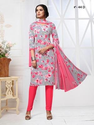 Multicolor digital print crepe salwar