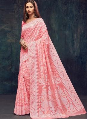 Pink Jacquard Jacquard Sarees