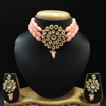 Pink crystal necklaces