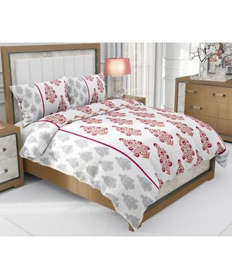 multicolour cotton double bed king size bed sheet with pillow cover