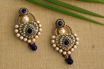 Blue onyx earrings