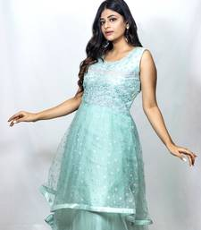 House Of Sitara Light Blue heavy embroidery long gown online