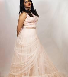House Of Sitara Light Peach Designer Style Gown On Net Online