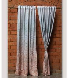Digital Print Peach Curtain