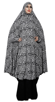 JSDC Animal Printed Viscose Lycra Chaderi Abaya Burqa for Women