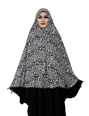 JSDC Women's Stitched Animal Printed Viscose Lycra Chaderi Hijab Makhna