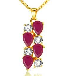 Red crystal pendants