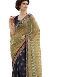 Multicolor Coloured Brasso Casual Wear Plain Sari With Unstitched Blouse