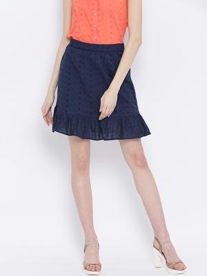 Dotted Ocean Blue Women Skirt