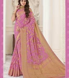 Light pink Georgette sari