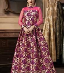 Rani Pink Jacquard Designer Pakistani Kurtis