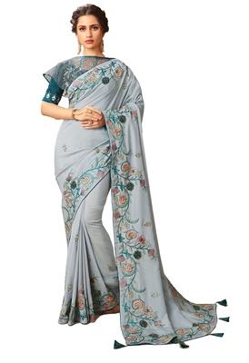 Designer Party Wear Heavy Embroidery Work Saree