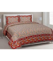 grey printed cotton King bed-sheets