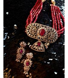 Gorgeous Red Indo Western Choker