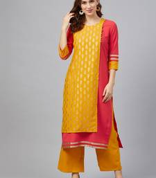 Coral printed rayon kurtas-and-kurtis