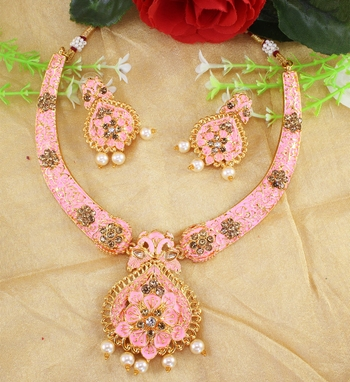 Pink necklaces