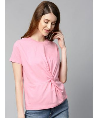 Pink Twisted Knot Regular T-Shirt