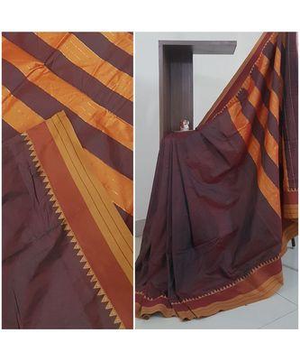 Brown south cotton blend saree