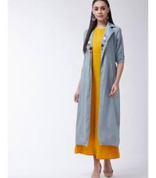 Yellow Printed Viscose Straight Kurti Set