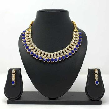 Blue ruby necklace-sets