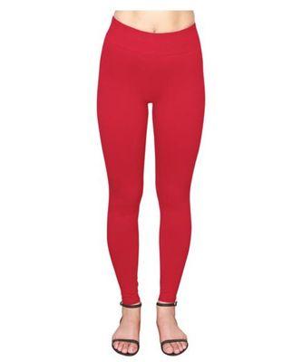 Bloody Red  ankle length premium shapewear leggings for ladies & girls