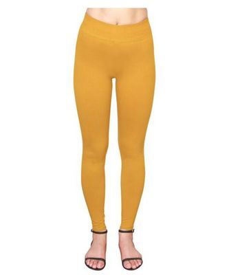 Golden Yellow  ankle length premium shapewear leggings for ladies & girls
