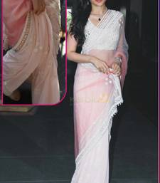 Buy Light Pink embroidered georgette saree with blouse kareena-kapoor-saree online