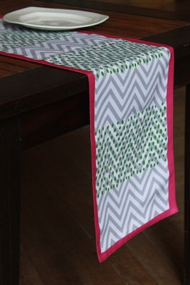 multicolor printed polyester table runner