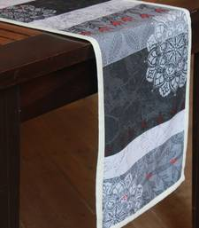 multicolor printed cotton table runner