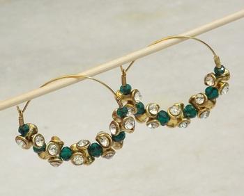 Beautiful light weight golden bali earring