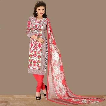 Multicolor floral print cotton salwar