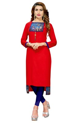 Multicolor printed cotton ethnic-kurtis