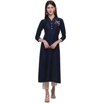 Blue printed cotton ethnic-kurtis