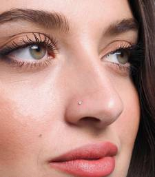 Silver Small Diamond nose-ring or Nose Pin