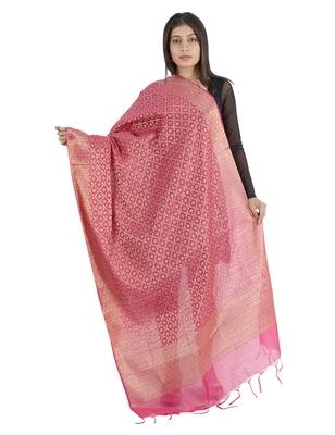 Karina Blue Women's Banarasi Kora Silk Zari Dupatta