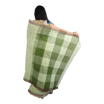 Light green hand woven andhra pradesh handloom saree