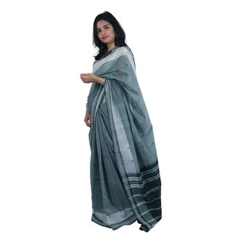 Dark green hand woven andhra pradesh handloom saree