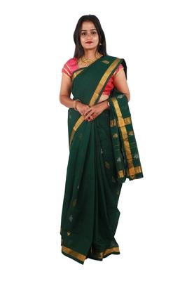 Green hand woven andhra pradesh handloom saree