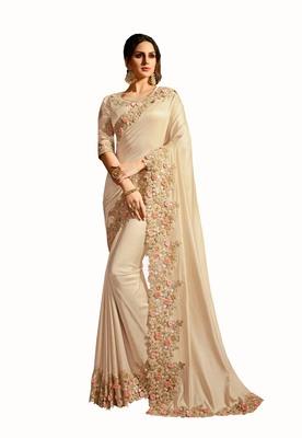 Designer party wear beautiful Heavy  border work saree
