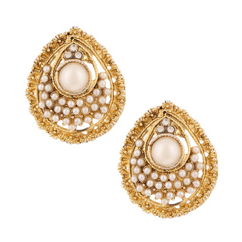 Ethnic Indian Bollywood Jewelry Set Pearly pure Earrings Set