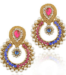 Buy Pearl traditional ethnic indian earring danglers-drop online
