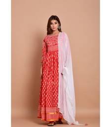 Pink bandhej cotton kurta sets