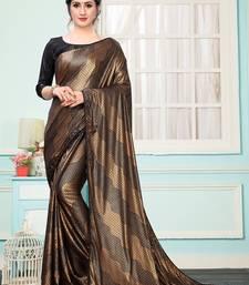 Black Plain Imported Fabric Designer Saree With Blouse