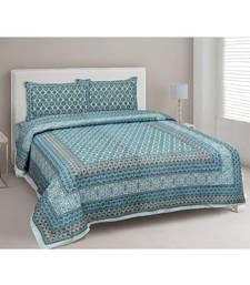 Ethnic Charm Blue Double Bedsheet