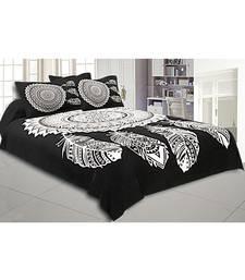 Big Feather Print Black & White Bedsheet
